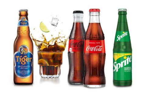 Sushifreunde - Softdrinks Coca Cola, Sprite, Tiger Beer