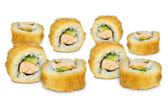 Sushifreunde - Crunchy Syake mit Stremellachsfilet, Frischkäse und Avocado