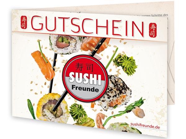 Sushifreunde Gutschein als Print