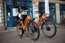 Nachhaltig und elektrisch, unsere Lieferräder | Sushifreunde Erfurt-Hirschgarten