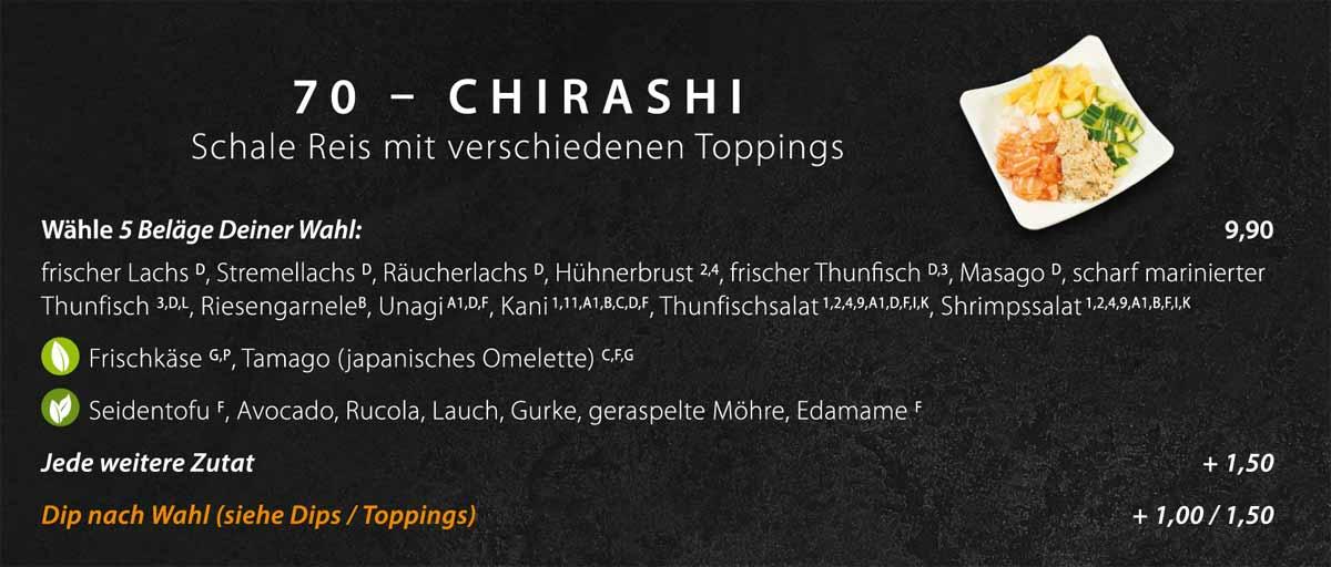 Sushifreunde Speisekarte | Chirashi