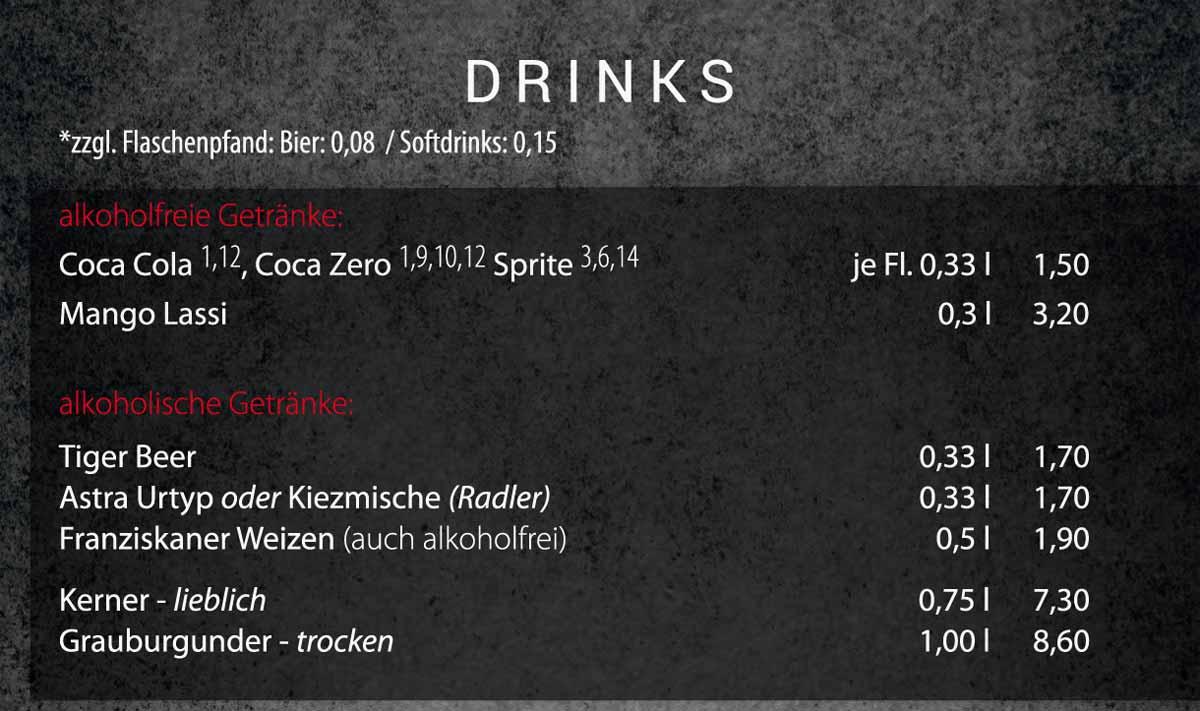 Sushifreunde | Speisekarte | Drinks / Getränke
