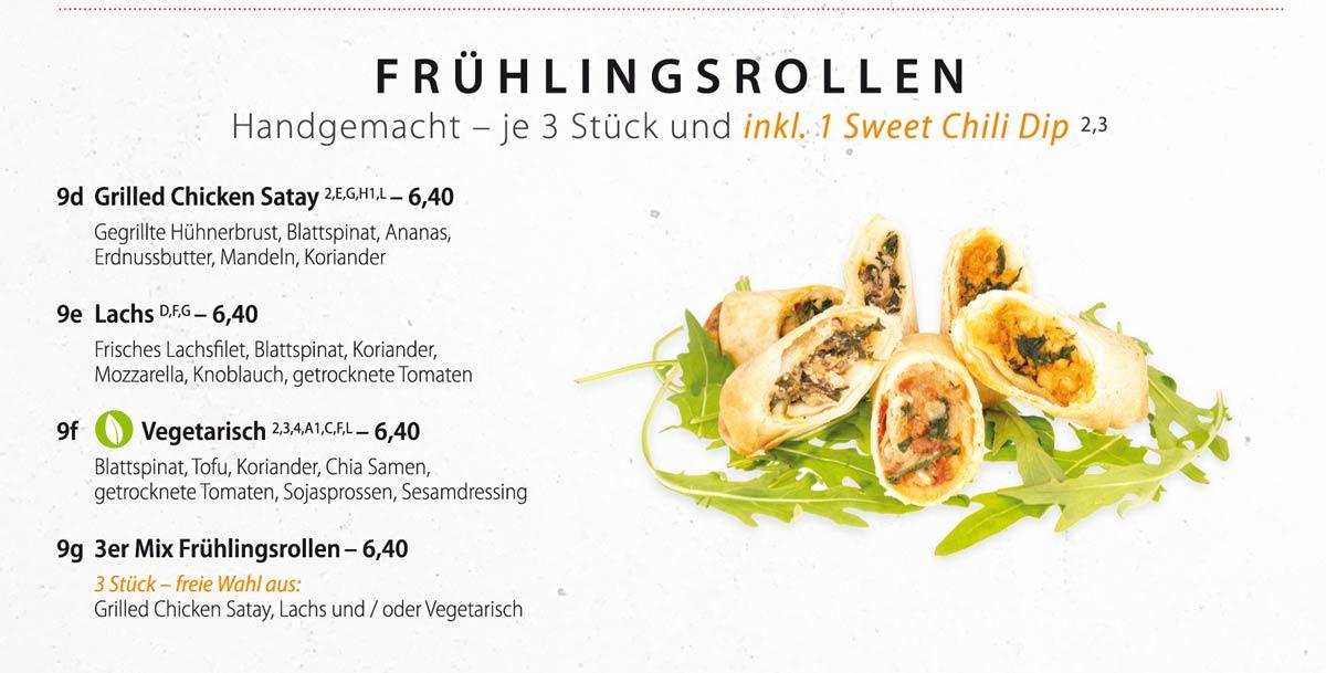 Sushifreunde Speisekarte | Frühlingsrollen