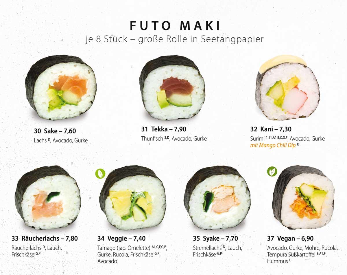 Sushifreunde Speisekarte | Futo Maki