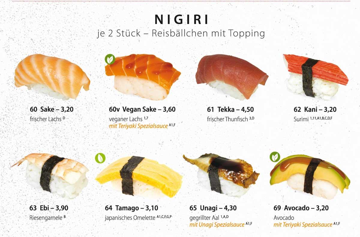 Sushifreunde Speisekarte | Nigiri