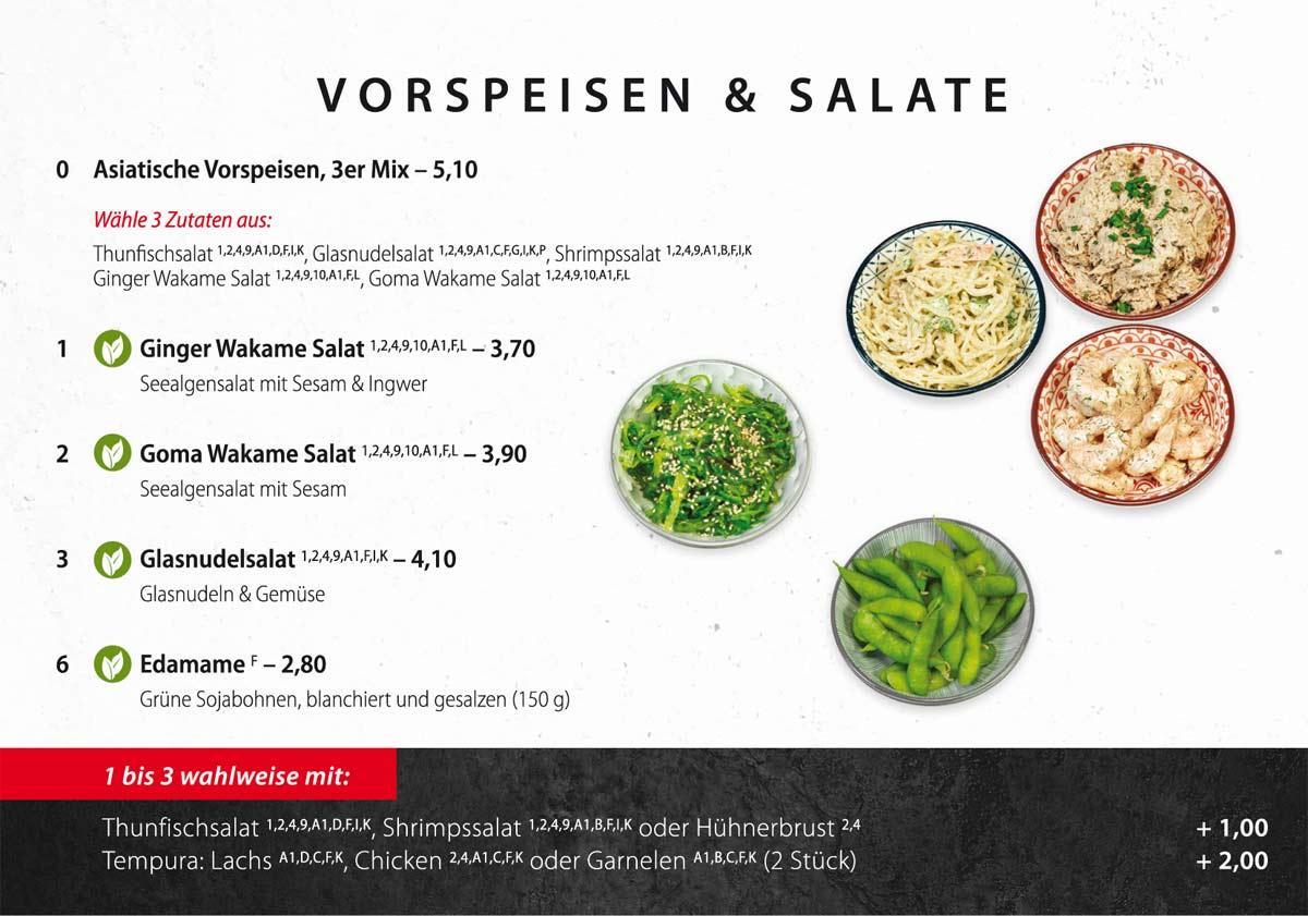 Sushifreunde Speisekarte | Vorspeisen & Salate